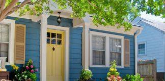 phong thủy cây xanh trước nhà
